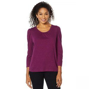 NWT Skinnygirl 3/4-Sleeve T-Shirt Medium Purple